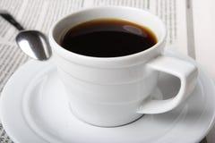 Café, noticias Imagen de archivo libre de regalías