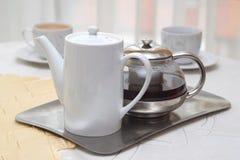 Café o té imagen de archivo libre de regalías