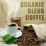 Café organique de mélange Image libre de droits