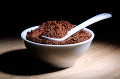 Café organique en poudre par élite Photographie stock