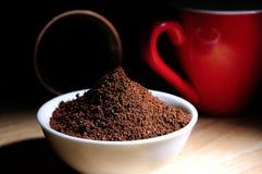 Café organique en poudre par élite Photo libre de droits