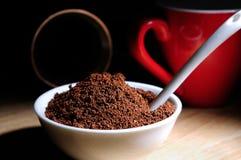 Café organique en poudre par élite Photo stock