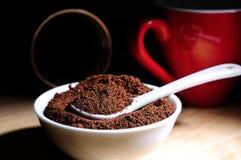 Café organique en poudre par élite Image stock