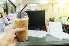 Café ou latte glacé de caffe Photo libre de droits