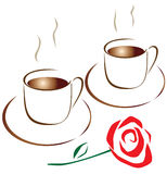 Café para dois Imagem de Stock