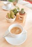 Café para dos en el café Foto de archivo