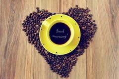 Café para el desayuno Imágenes de archivo libres de regalías