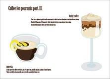 Café para la pieza de los gastrónomos II stock de ilustración