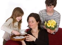 Café para a mamã Fotos de Stock