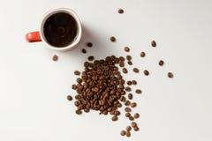 Café parfumé et café de haricots Photos libres de droits