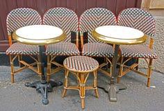 Café parisiense fotografía de archivo