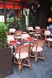 Café parisiense Foto de archivo libre de regalías