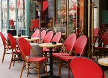 Café parisiense fotografia de stock