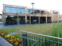 The Café part of amenity hub for a business park's employees called The Hive at Croxley Park, Watford stock image