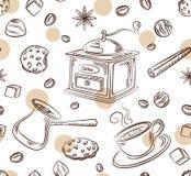 Café Patern sans couture Photographie stock libre de droits