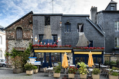 Café pequeno catita em Honfleur Normandy Foto de Stock Royalty Free