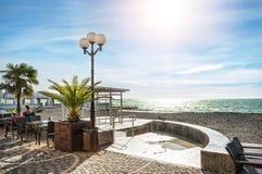 Café pequeno na praia Imagens de Stock Royalty Free