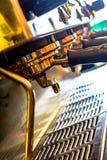 Café, pièces, chaudes, machine, inoxydable, effet, image stock