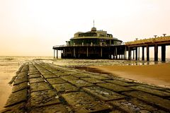 Café on the Pier. Café on the pier in Ostend Stock Photography