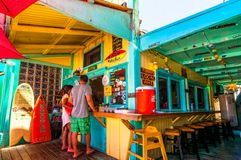 Café pintoresco de las sirenas en Kapaa, Kauai Fotografía de archivo
