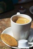 Café poner crema Imágenes de archivo libres de regalías