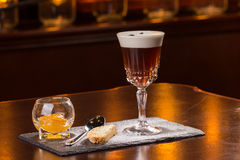 Café poner crema irlandés Foto de archivo