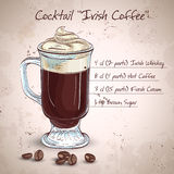 Café poner crema irlandés Imágenes de archivo libres de regalías