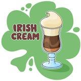 Café poner crema irlandés Fotografía de archivo
