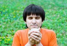 Café potable d'homme bel Photos libres de droits