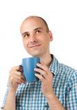 Café potable de jeune homme Photographie stock libre de droits