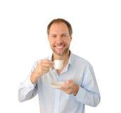 Café potable de sourire d'homme Photographie stock