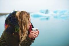 Café potable en Islande Image libre de droits