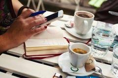 Café pour deux Photos stock