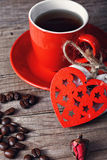 café pour la Saint-Valentin Photo stock
