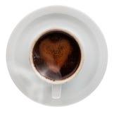 Café préparé de cuvette de café Photographie stock libre de droits