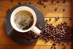 Café preto com froth    Fotografia de Stock