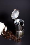 Café preto feito fresco Fotografia de Stock Royalty Free