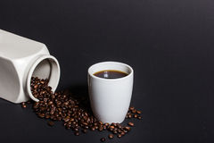 Café preto fresco e delicioso Foto de Stock Royalty Free