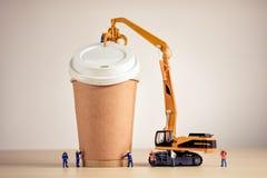Café que hace al equipo Foto macra Foto de archivo