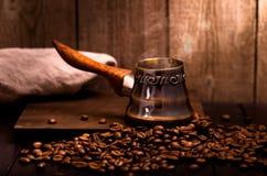 Café que prepara el pote Fotos de archivo libres de regalías