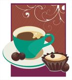 Café-quebre o fundo Fotos de Stock Royalty Free