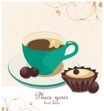 Café-quebre o fundo Imagem de Stock Royalty Free