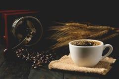 Café quente do café, café do respingo, Fotografia de Stock Royalty Free