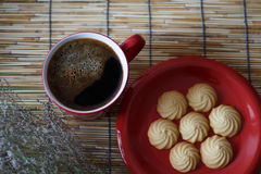 Café quente e cookies caseiros Imagens de Stock