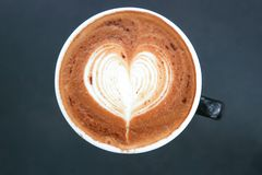 Café quente ou mocha quente foto de stock