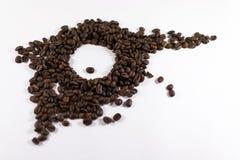 Café rôti par résumé Bean Eye Image stock