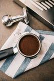 Café recientemente molido Imagenes de archivo