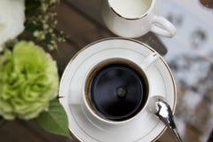 Café recientemente preparado Fotos de archivo