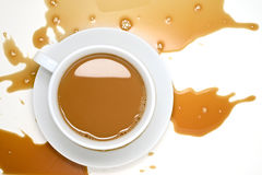 Café renversé Photographie stock