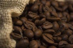 Café renversé hors du sac Photographie stock libre de droits